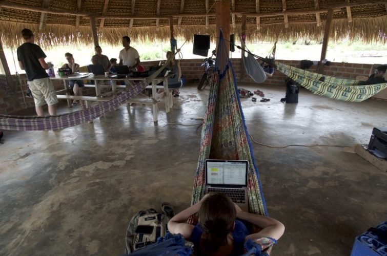 Laptops and hammocks are fairly comfortable.